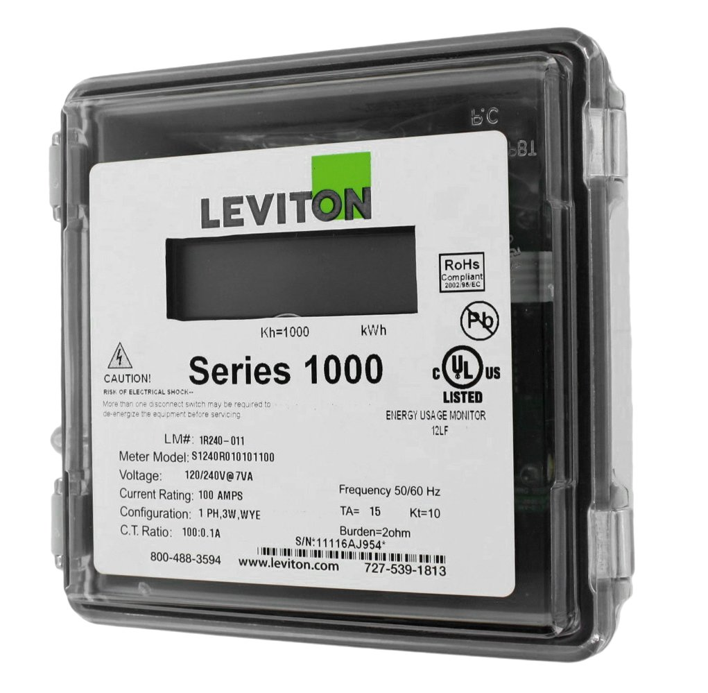 Leviton 1R240-11 Series 1000, Dual Element Meter, 120/208/240V, 2PH ...