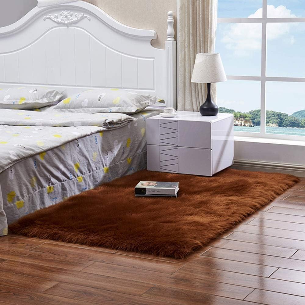 茶色の豪華なカーペットマット、出窓の寝室のフルリビングルームの装飾、リビングルームの寝室の研究に適した、4つのサイズ、ポリアクリロニトリル 清潔できれい (Size : 120*180cm)