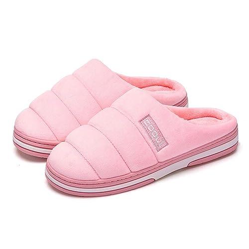 Zapatillas De Mujer, Piel De Imitación De Goma para Mujer, Forrada, Zapatos Anchos Y Calzados, Zapatos De Casa, Buenos Suelas, Lavable A Máquina, ...