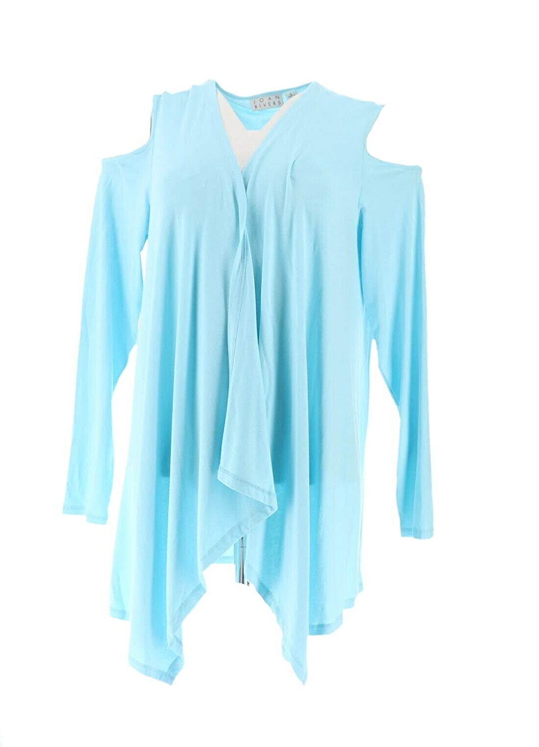 Joan Rivers Jersey Knit Draped Front Cardigan Cold Shoulder A306705