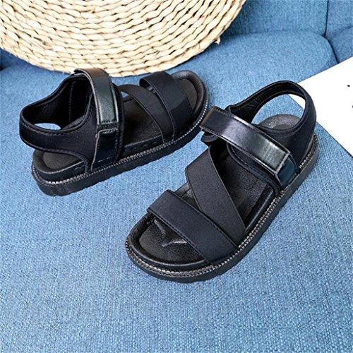 Fit bajos para de Espadrille cuero Platform 6 Tamaño Toe libre negro Sandalias Wide Lolittas Slingback al Glitter aire Pantshoes Negro Peep Tacones mujer 2 tfxHAqF
