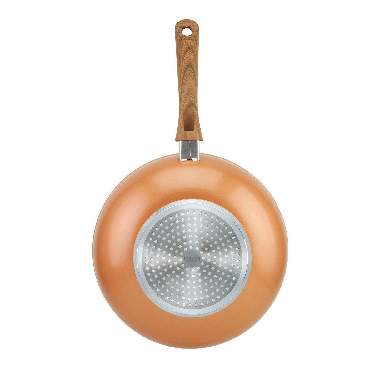 Sartenes Copper Stone de JML, 28 cm, un wok en el que la intensidad del sofrito combina con la belleza del cobre: Amazon.es: Hogar