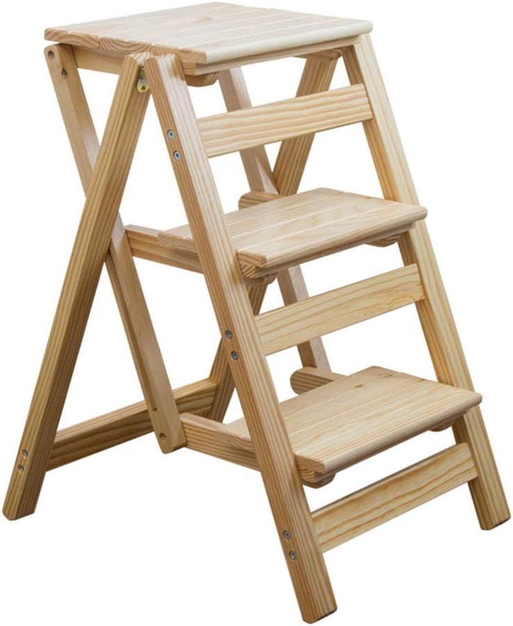 DZWSD Escalera escalerilla de 3 peldaños Escalera Plegable Escalera de Madera Clara Adecuada para el hogar y la Cocina Estabilidad Antideslizante y Escalera Ancha 150 kg de Ahorro de Espacio: Amazon.es: Hogar