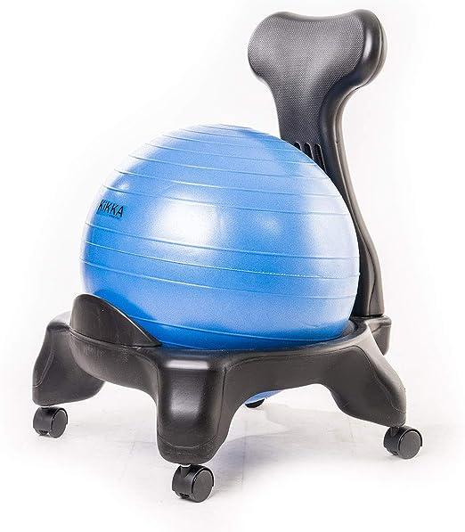 Kikka Silla Activa Azul – Silla ergonómica con Bola de Ejercicio ...