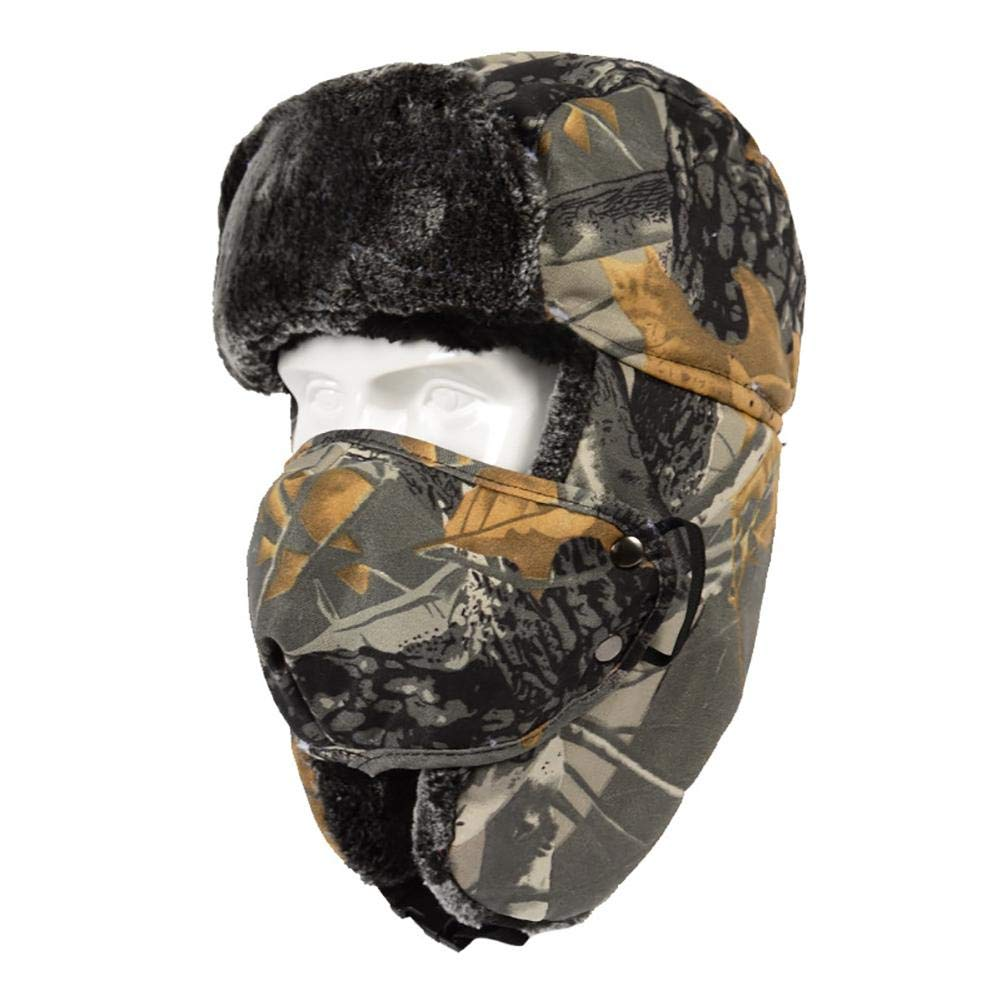 Comaie trapper hat for men unisex women windshield cap outdoor warm winter camouflage thickened ear protection riding windproof ski protector mens hats caps thickening hooded korean style cotton