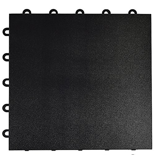 Greatmats Portable Dance Floor 1x1 Ft Tile 26 Pack Black by Greatmats