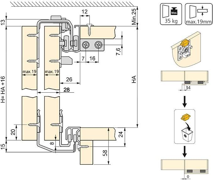 Emuca 6030120 6030120- Armario de 2 puertas con perfiles Styl: Amazon.es: Bricolaje y herramientas