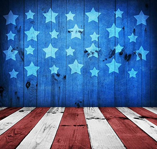 5x7ft Vinyl Digital Patriotic July 4 US American Stars and Stripes Flags Independence Day Photography Studio Backdrop Background by YAME