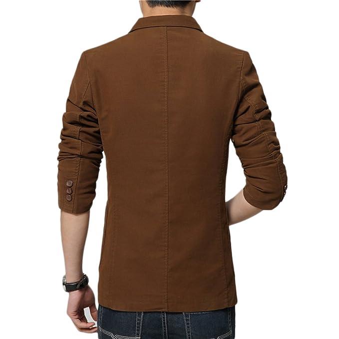 Insun Hommes Vestes Slim Fit Coton Blazer Revers Suit Jacket Vestes De  Costume: Amazon.fr: Vêtements et accessoires