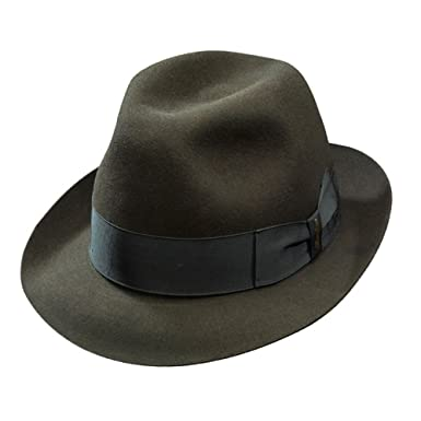 Borsalino Francesco Fur Felt Fedora-Taupe at Amazon Men s Clothing ... 0d0b5c4ad2e