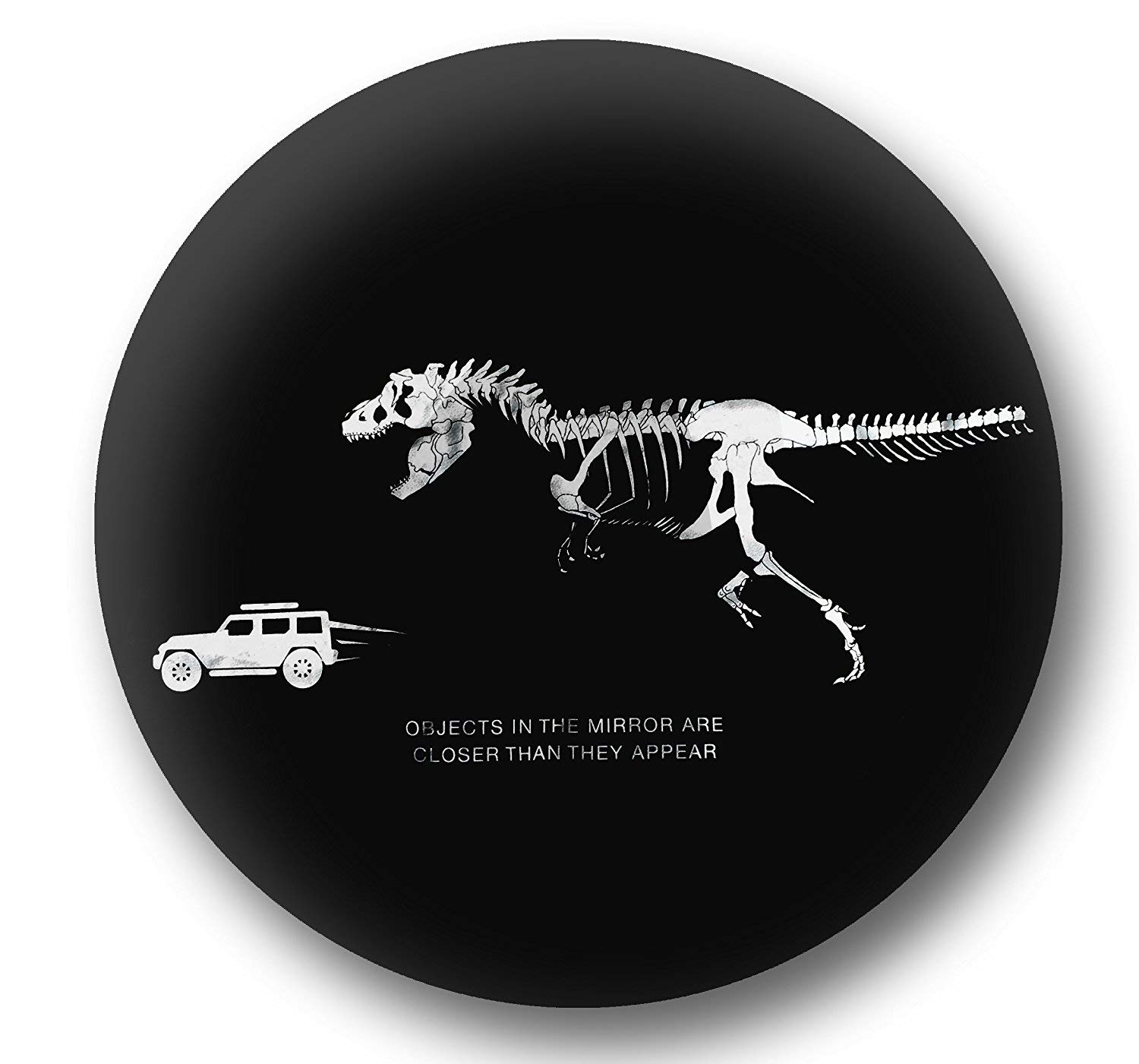 Jeep Spare Wheel Tire Cover PU Leather -T-Rex Chasing Jeep - Size 32/33''