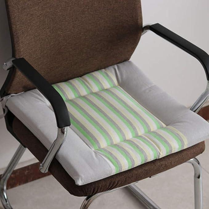 Stile Cinese Loto Cuscini per Sedie Retro Set di 2 Cuscino Sedia 100/% Cotone E Lino Traspirante Cuscino di Pavimento Verde con La Cravatta 40x40 per Cucina Ufficio Giardino