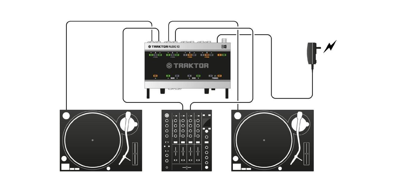 NATIVE INSTRUMENTS traktor scratch A10 (Tarjeta de sonido 10 software traktor scratch pro 2 cd/timecode vinyl)