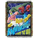 Nickelodeon SpongeBob Movie: Sponge Out of Water, Invincibubble Woven Tapestry Throw Blanket, 46'' x 60''
