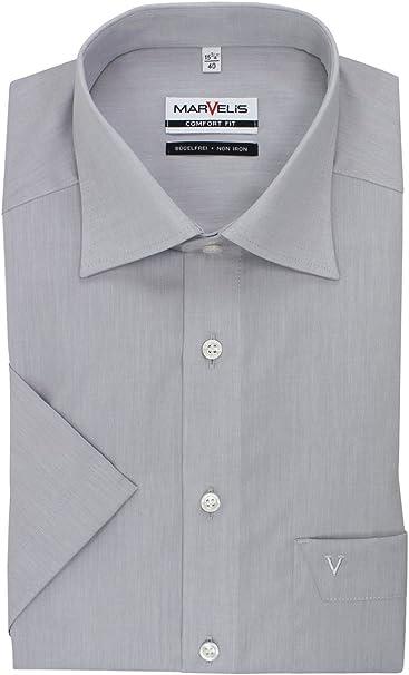 Marvelis - Camisa Formal - Cuello Kent - para Hombre: Amazon.es: Ropa y accesorios