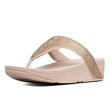 862834ab2 FitFlop Women s Lottie Shimmer Crystal Artisan Gold Frappe 5 ...