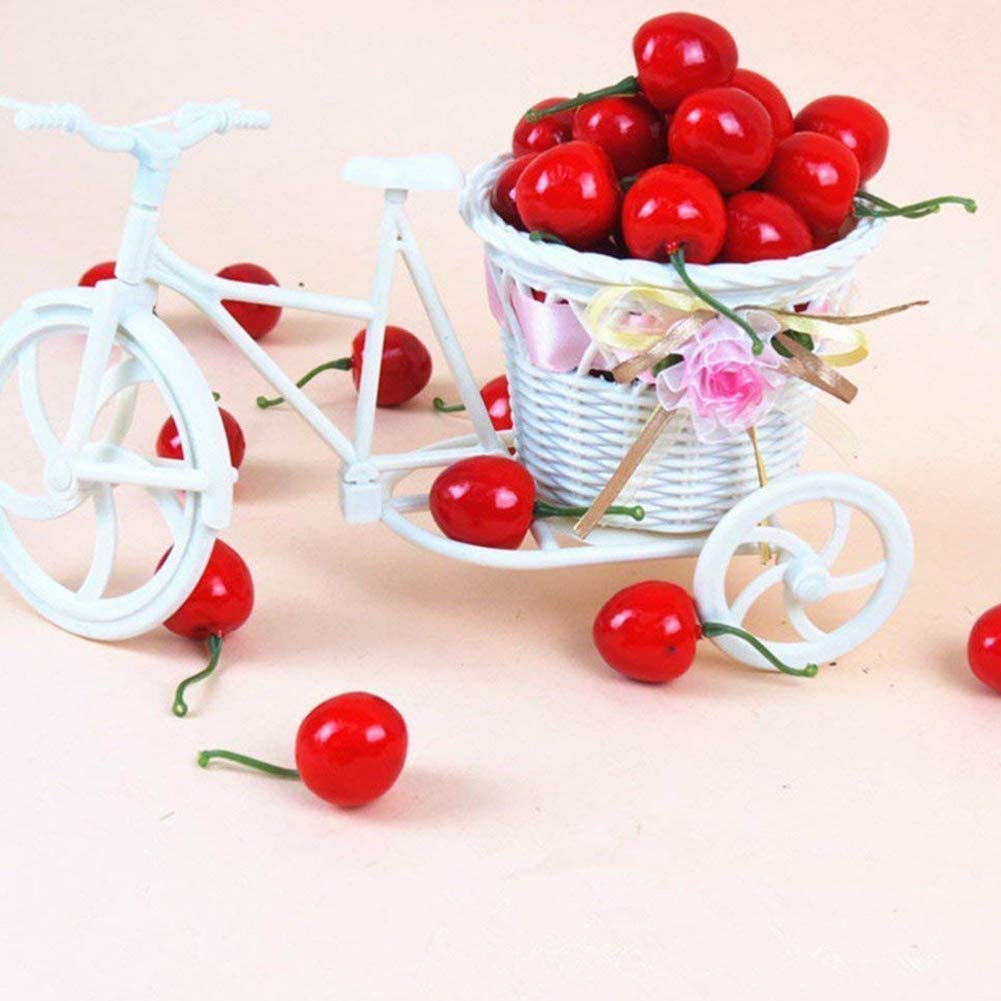 1 Confezione Little Red Cherries Falso Frutta Artificiale Modello House Kitchen Decoration Desk Ornament