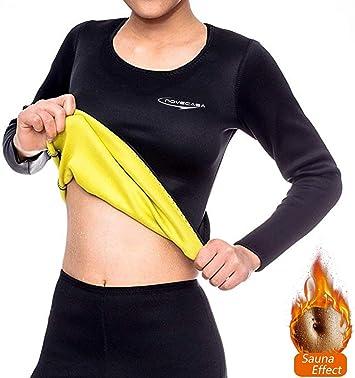 NOVECASA Camisa Sauna Mujer Neopreno Deportivos Body Shaper Shirt para Sudoración Quema Grasa Adelgazante: Amazon.es: Deportes y aire libre