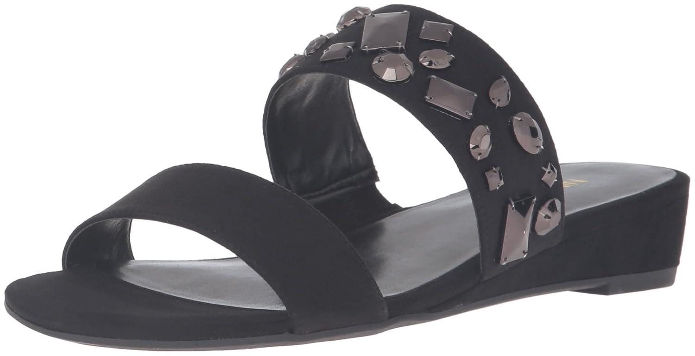 Nine West Women's Temisha Fabric Wedge Sandal B01HDTVKUY 6.5 B(M) US|Black