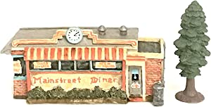 Snickerdoodle Smalls Mini Resin Diner with Tiny Tree for Fairy, Gnome or Troll Miniature Garden, Diorama or Home Decor (Mainstreet Diner)