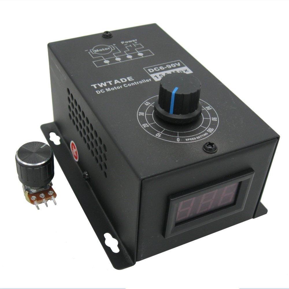 TWTADE/DC Motor Controller Motor Speed Control 6V-90V 15A 1000W ...
