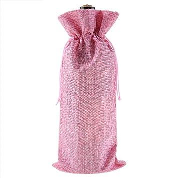 Bolsa con cordón de vino, 12 bolsas de regalo de tela de ...