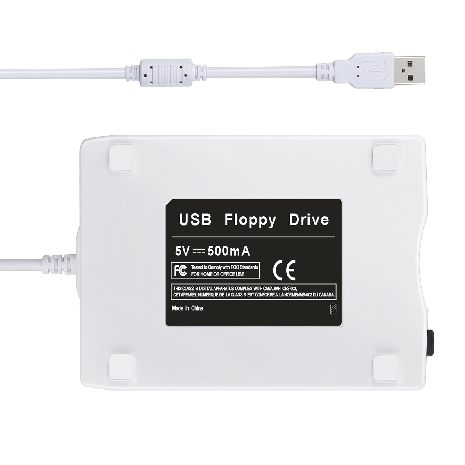 Neoteck USB Floppy Disk 3.5'' 1.44 MB FDD Floppy Disk Drive External Portable USB Floppy Disk Reader Plug and Play for Laptop PC MAC Windows 10 Windows 8 7 VISTA XP ME 2000 SE 98-White by Neoteck (Image #4)