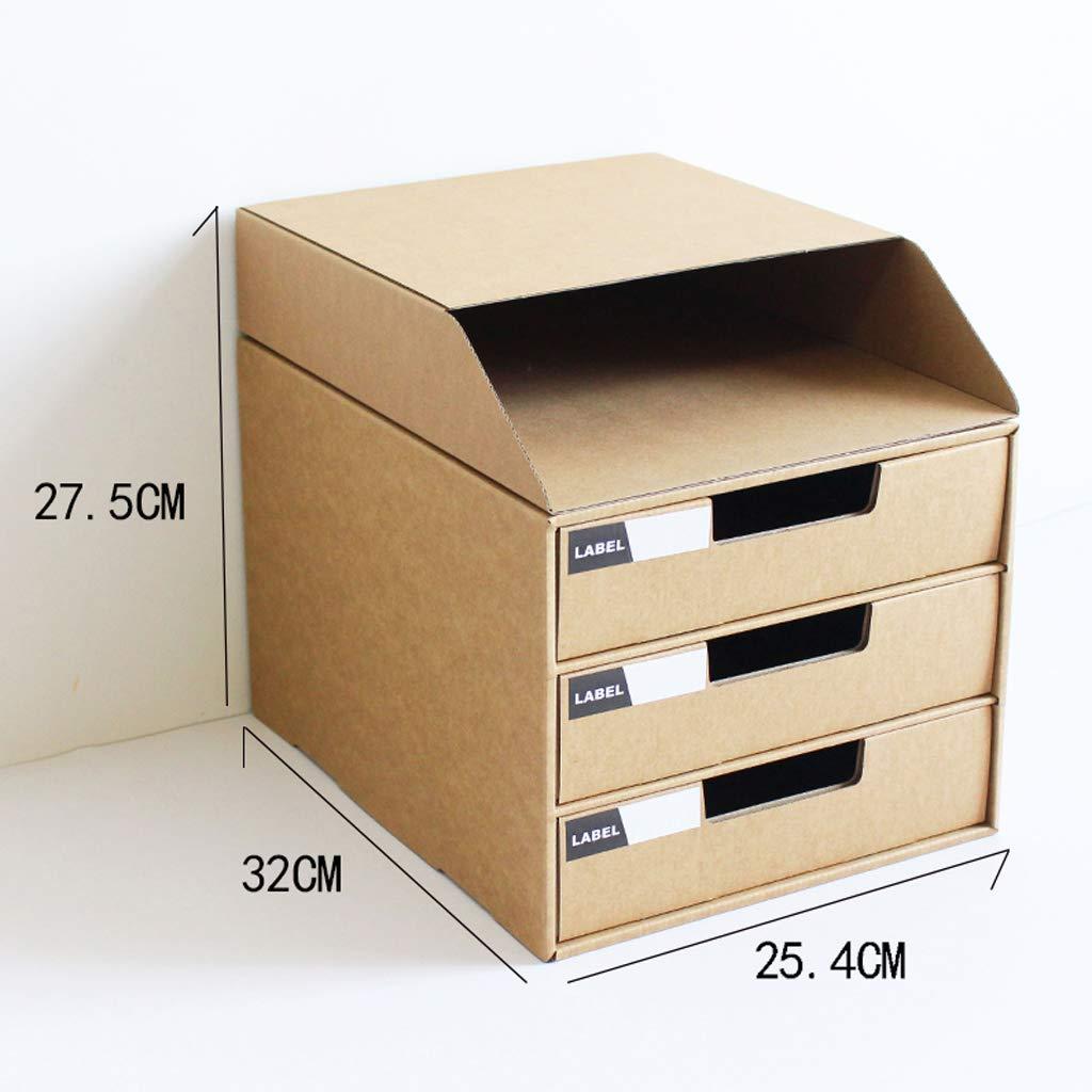 Gabinete de Archivos móvil para gabinete tamaño A4, gabinete para de clasificación de Papel con gabinete para Archivos de Oficina de 3 cajones (Negro) 7bac7c