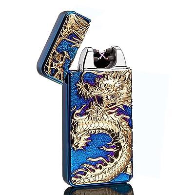 USB rechargeable coupe-vent électrique Plasma Arc allume-cigare Oiikury gravé briquets Dragon Chinois