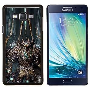 YiPhone /// Prima de resorte delgada de la cubierta del caso de Shell Armor - Robot Alien Warrior Espada Arte armadura azul - Samsung Galaxy A7 A7000