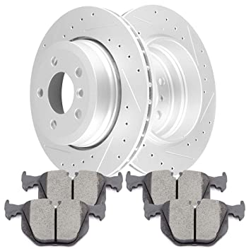 Front And Rear Brake Rotors For 2004 2005 2006 2007 2008 2009 2010 2011 X3