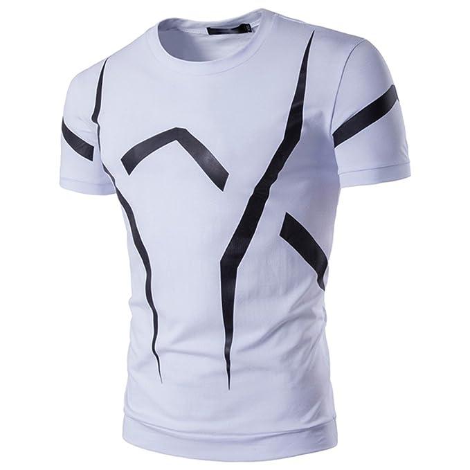 64a11197b1f46 Weant Tshirt Divertente Uomo Manica Corta Polo Abbigliamento Uomo Slim Fit Tee  Bianca Taglie Forti Casual