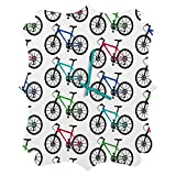 Deny Designs  Andi Bird, Ride a Bike White, Quatrefoil Clock, Medium