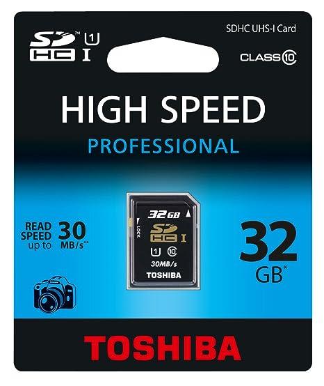 Toshiba 32GB SDHC/UHS-1 - Tarjeta de Memoria SecureDigital de 32 ...