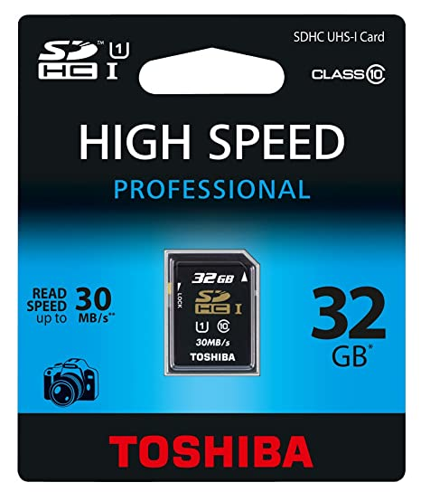 Toshiba 32GB SDHC/UHS-1 - Tarjeta de Memoria SecureDigital de 32 GB (Clase: 10, 30 MB/s), Negro