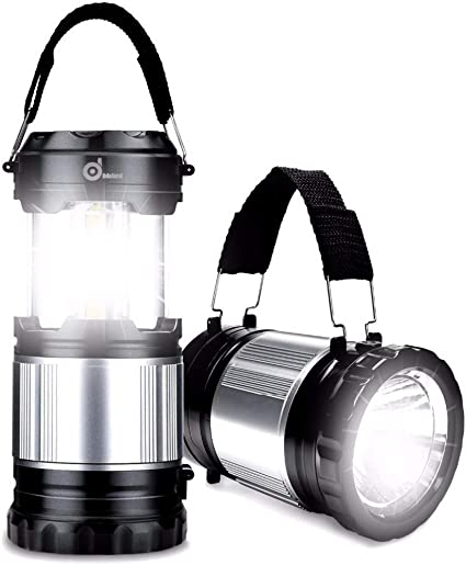 Solar Power Rechargeable Battery LED Flashlight Camping Tent Light LanternLampBL