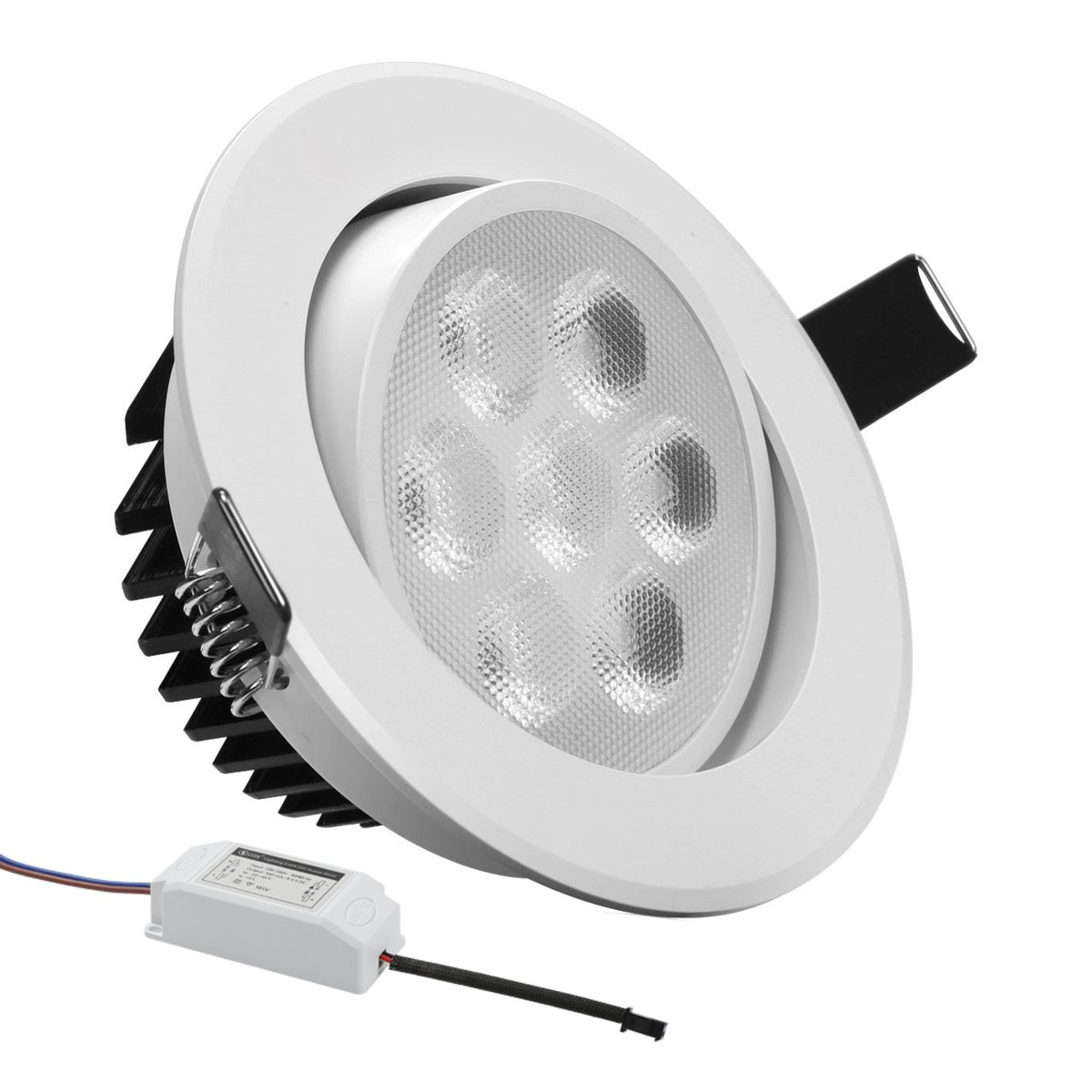 LE 7W 3.5-Inch LED Recessed Lighting 75W Halogen Bulbs Equivalent LED Driver Included 500lm Daylight White 6000K Recessed Ceiling Lights Recessed ...  sc 1 st  Amazon.com & LE 7W 3.5-Inch LED Recessed Lighting 75W Halogen Bulbs Equivalent ... azcodes.com