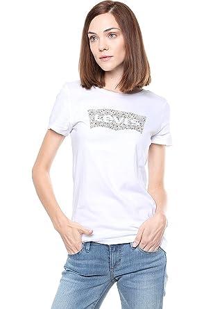mejor lugar para precio de descuento nueva precios más bajos Levis Playera Blanca Playera para Mujer: Amazon.com.mx: Ropa ...