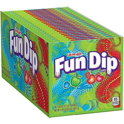 Fun Dip RazzApple Magic and Cherry Yum Diddly, 0.43 Ounce, Pack of 48