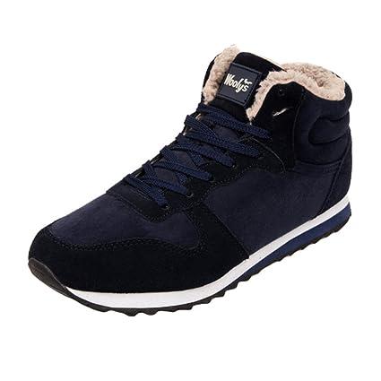 Zapatillas de deporte hombre / mujer Zapatos de invierno - hibote Botines cálidos de felpa Botas