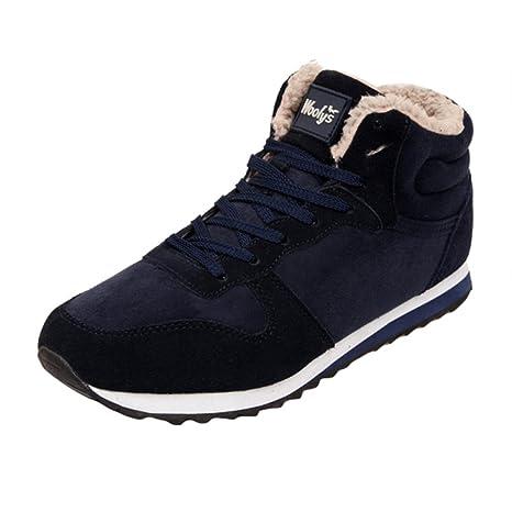 Scarpe invernali unisex Sneakers - hibote Autunno Inverno Uomo ragazze Lace  Up Pelliccia Neve Stivali Snow 4c3fefa519c