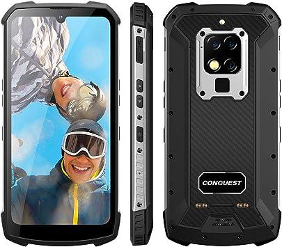 CONQUEST Móvil Libre Resistente, S16 48MP Cámaras Triples Resistente IP68 Impermeable Smartphone,Admite NFC,6000mAh,4G SIM Doble,UV/Detección De Frecuencia Cardíaca,Carga Inalámbrica (Plateado,256GB): Amazon.es: Electrónica