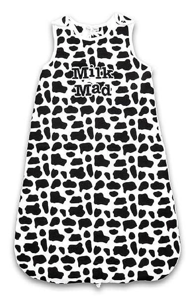 Babies saco de dormir Grobag Negro/Blanco De Leche Mad Impresión de vaca 2 Tog [0 - 6 meses] Color Blanco y Negro: Amazon.es: Ropa y accesorios