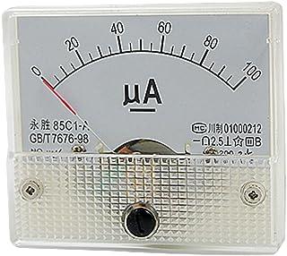 85C 1-Un Dc 0-100Ua Amperometro Del Tester Di Pannello Analogico Gauge