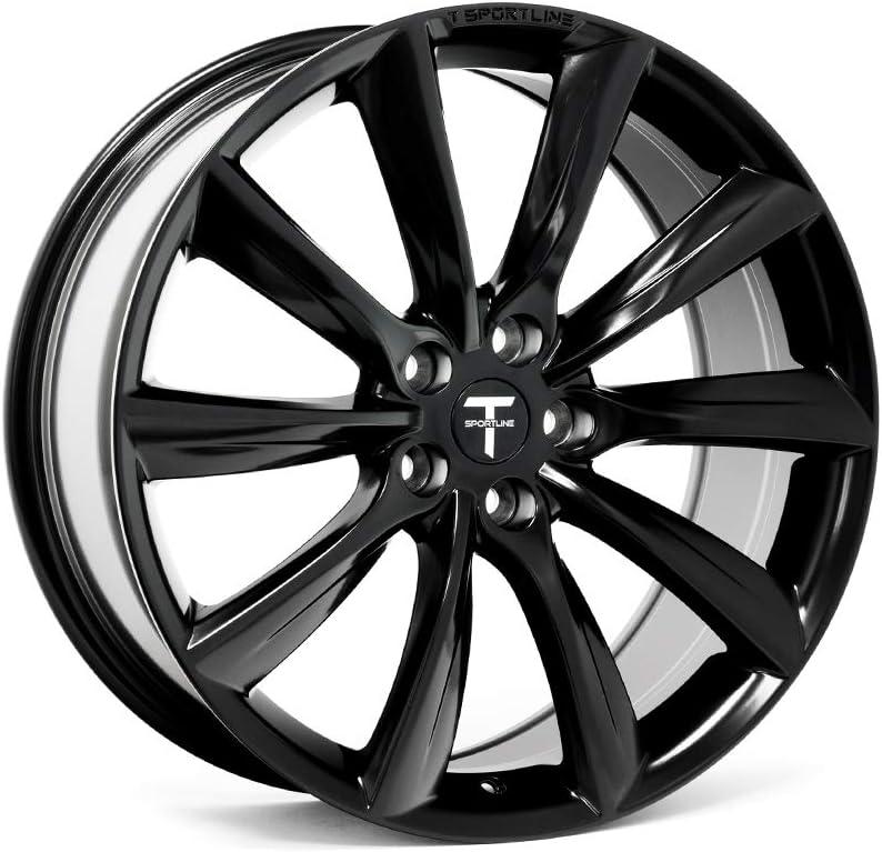 Amazon Com 20 Tst Tesla Model X Flow Forged Wheel Set Matte Black Staggered Set Automotive