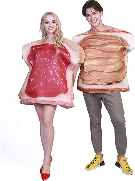 SHANGLY Sándwich Disfraz Cosplay Pareja Adulto Toast Funny Food ...