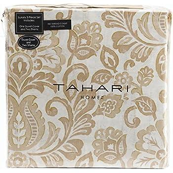 Amazon Com Tahari Home 3 Piece Full Queen Duvet Cover Set