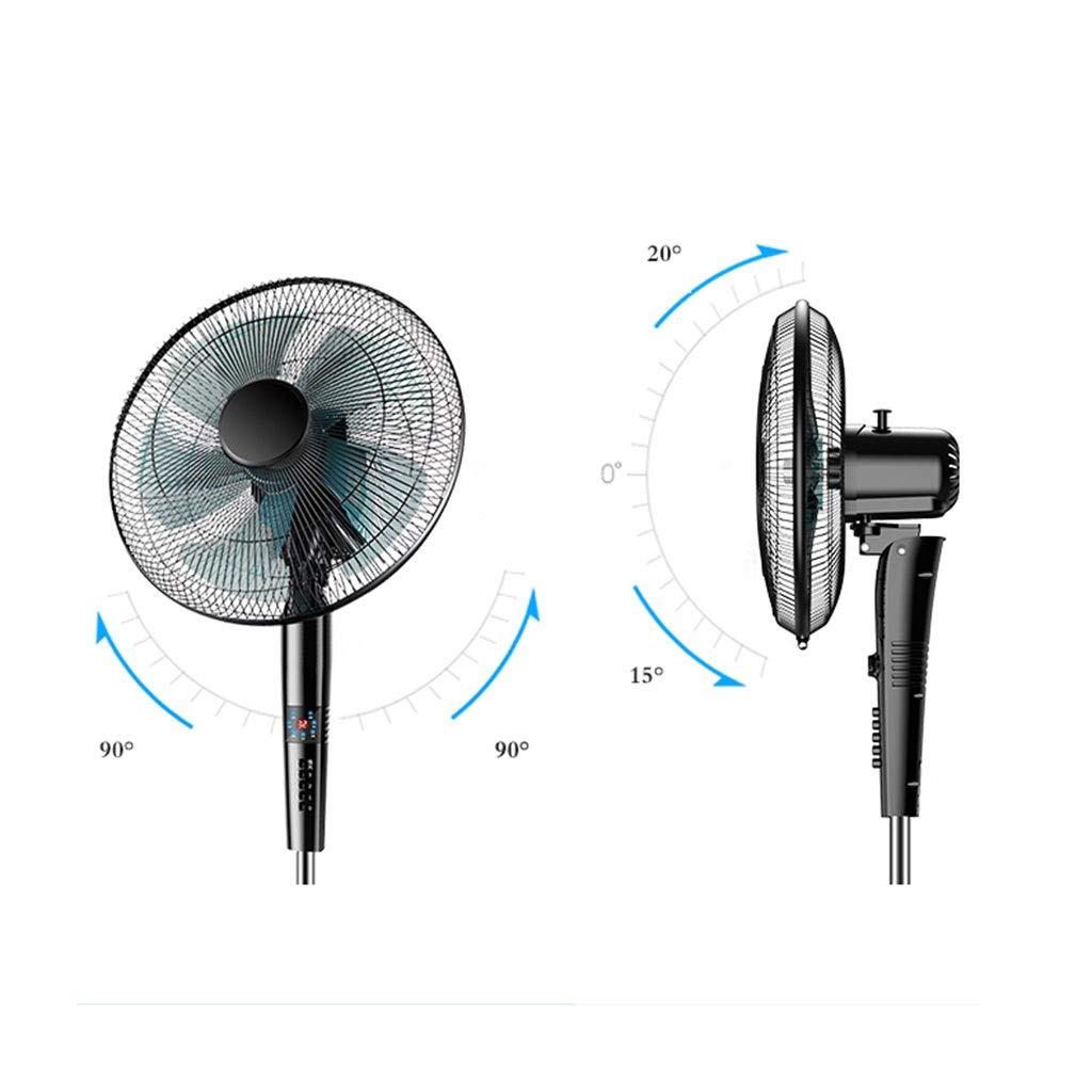 Noir Puissant et Silencieux OCYE Oscillant Ventilateur sur Pied avec 8 M Distance 12 Vitesses et Ajustable la Taille pour Refroidir Votre pi/èce Rapidement Minuterie de 9 Heures