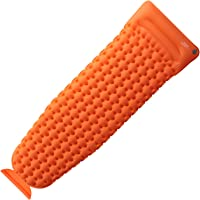 OlarHike Camping Inflatable Sleeping Pad with Pillow (Orange)