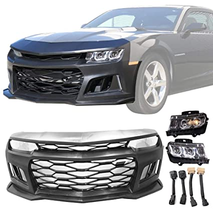 Amazon com: Front Bumper Cover w/Chrome Headlights Fits 2010
